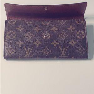 Authentic vintage Louis Vuitton clutch wallet